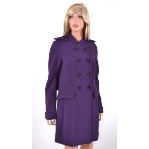 Burberry Prorsum Purple Wool Runway Coat Jacket